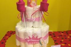 Diaper Cake Πριγκίπισσα