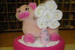 Diaper Cake Γουρουνάκι