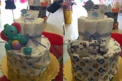 Diaper Cake Ελεφαντάκι & Αρκουδάκι