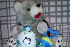 Diaper Box Αρκουδάκι & Πιγκουίνος