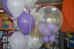 Γεμιστό μπαλόνι και μπουκέτο