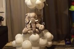Ελεφαντάκι με Συννεφάκια και Μπαλόνια Chrome