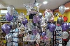 Μπουκέτα chrome  μπαλονιών με θέμα Αστέρι