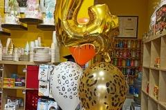 Χρυσό νούμερο με μπαλόνια animal print