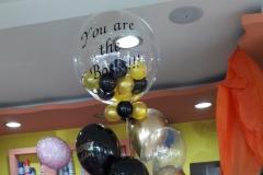 Μπουκέτο Happy Birthday με Μπαλόνι Aqua