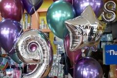 Μπουκέτα chrome  μπαλονιών Marcus and Martinus  και νούμερο