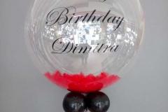 Μπαλόνι Aqua με Πούπουλα για Γενέθλια