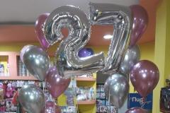 Νούμερα με Μπαλόνια Chrome