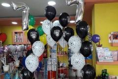 Μπουκέτα μπαλονιών Παοκ  με νούμερο