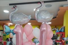 Μπουκέτα μπαλονιών Κύκνος