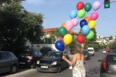 Μπουκέτα με πολύχρωμα μπαλόνια