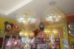 Μπαλόνια Aqua με Glitter