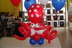 Χταπόδι με Μπουκέτα μπαλονιών