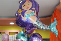 Γοργόνα με Μπαλόνια Chrome